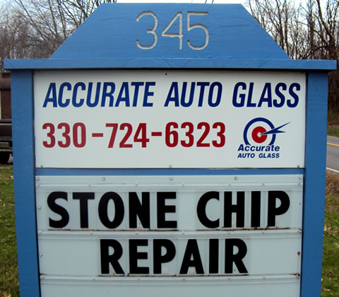 In-Shop Discount Auto Glass Repair at Accurate!